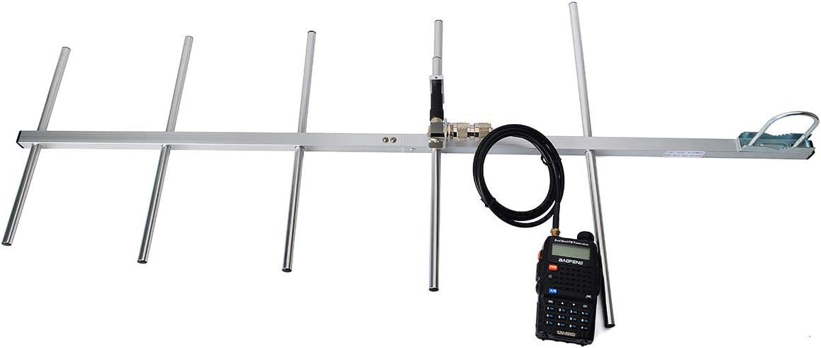 HYS YAGI Antena High Gain 9dBi UHF 400-470Mhz Antena Base UHF 400-470 MHz 5 Elementos Antena para Motorola Repeater Kenwood Baofeng