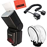 690EX Pro Series Digital DSLR Dedicated Camera Flash Starter Kit for Canon Digital EOS Rebel SL1, T1i, T2i, T3, T3i, T4i, T5, T5i EOS 60D, EOS 70D, 50D, 40D, 30D, EOS 5D, EOS 5D Mark III, EOS 6D, EOS 7D, EOS 7D Mark II, EOS-M Digital SLR Cameras