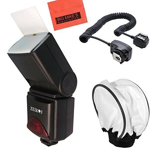 690EX Pro Series Digital DSLR Dedicated Camera Flash Starter Kit for Canon Digital EOS Rebel SL1, T1i, T2i, T3, T3i, T4i, T5, T5i EOS 60D, EOS 70D, 50D, 40D, 30D, EOS 5D, EOS 5D Mark III, EOS 6D, EOS 7D, EOS 7D Mark II, EOS-M Digital SLR Cameras by Big Mike's