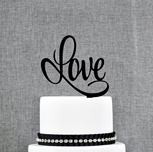 Script LOVE Wedding Cake Topper Romantic Wedding Cake for sale  Delivered anywhere in USA