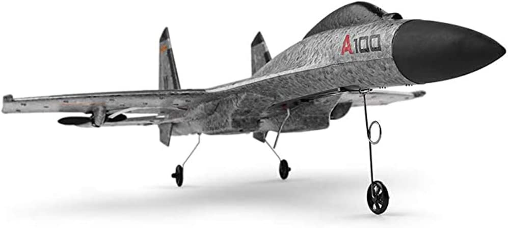 Remota reactores de control de carreras de alta velocidad avión RC aviones de combate del transmisor 2.4Ghz durable de la espuma del EPP 3-CH Incluye Avión RC RTF con Tecnología protectora (gris)