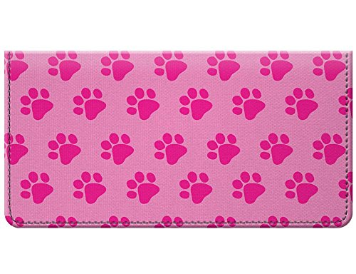 (Snaptotes Pink Paw Print Design Checkbook Cover)