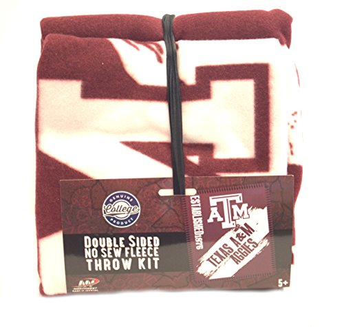 Texas A&m Quilt - The Northwest Company NCAA Texas A&M Aggies NCAA Double Sided No Sew Fleece Blanket Kitncaa Double Sided No Sew Fleece Blanket Kit, Red, 10