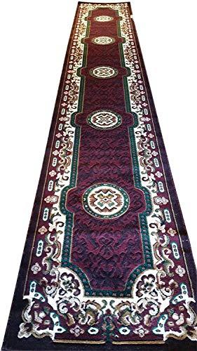 Asian Rug - Kingdom Traditional Long Persian Runner Rug Burgundy & Green Design D123 (2 Feet 4 Inch X 10 feet 11 Inch)