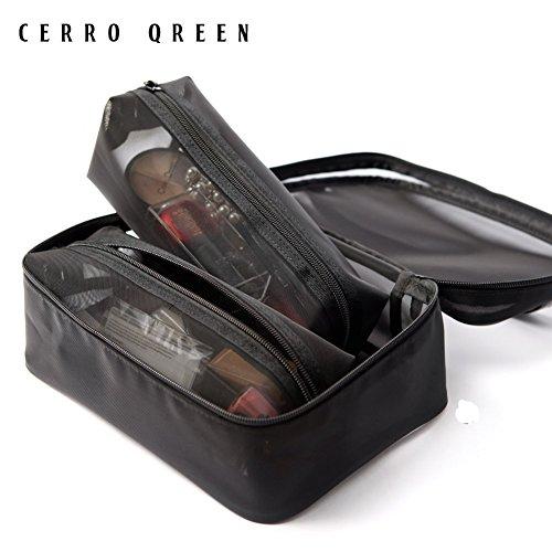3 Piece Makeup (CerroQreen Makeup Bag 3 Pieces set Travel Makeup Bag Cosmetic Bag)
