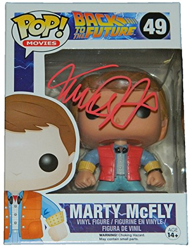 Michael J Fox Autographed/Hand Signed Back To The Future Marty McFly Funko Pop Vinyl Doll