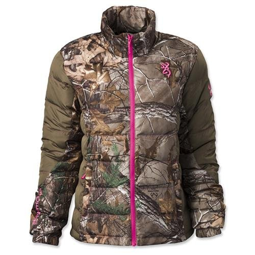Browning Hell's Belles Blended Down Jacket, Mossy Oak Break-Up Country/Pink, Medium