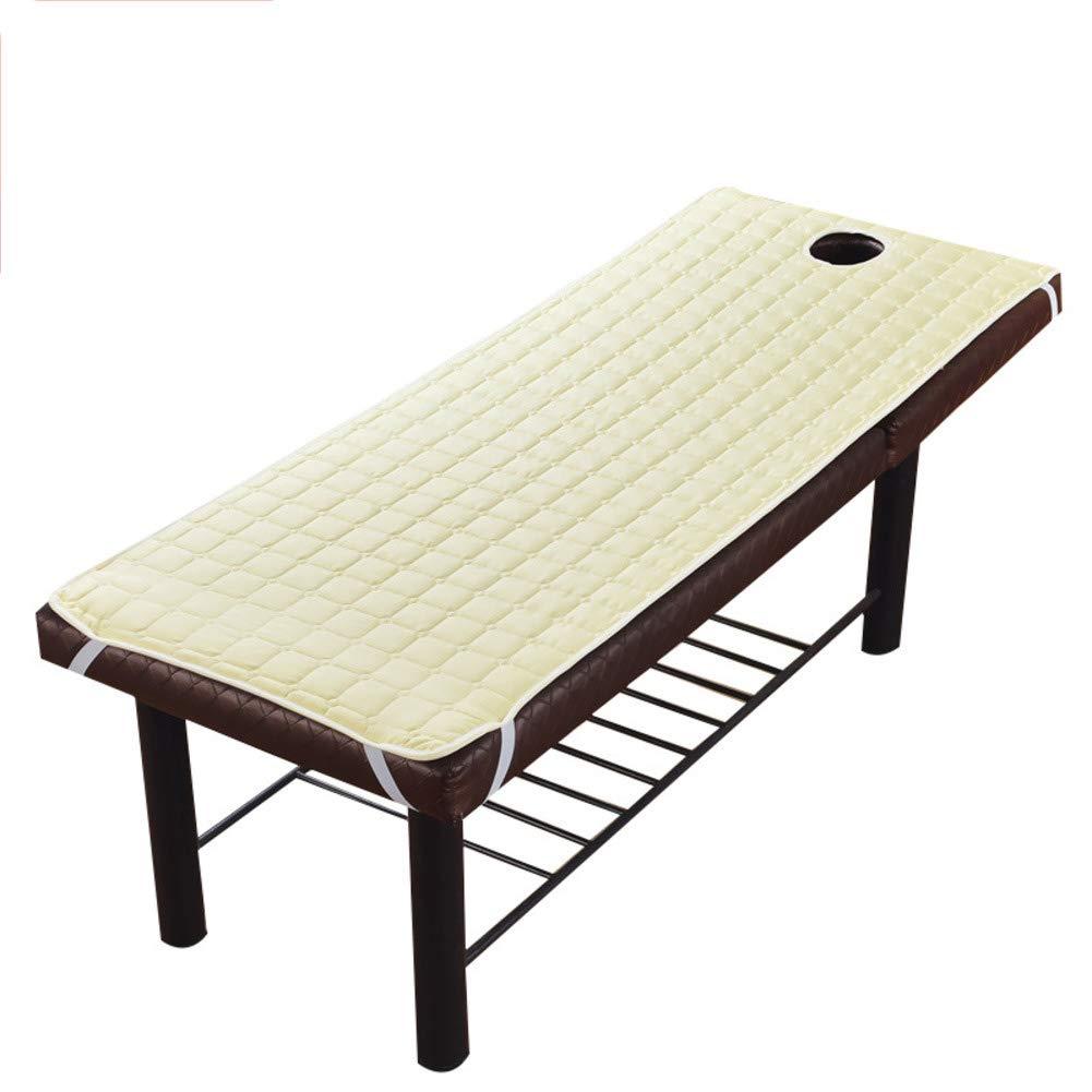 Creamy-white 185x70cm(73x28inch) Non-Slip antifouling Mattress, Beauty Salon futon Mattress Breathable Washable Double Sided Available Sleeping pad Foldable-Creamy-White 185x70cm(73x28inch)