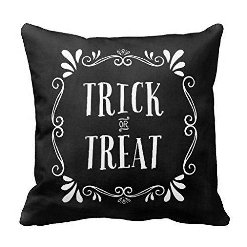 UOOPOO Trick or Treat Halloween Throw Pillow Case
