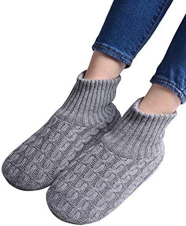 Panda Bros Fluffy Slipper Socks with Non Slip Women House Lined Socks Boat Super Cozy Hospital Slippers