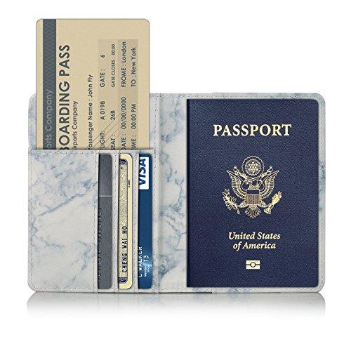 Anvas passport holder travel wallet premium vegan leather rfid anvas passport holder travel wallet premium vegan leather rfid blocking case cover securely holds passport business cards colourmoves
