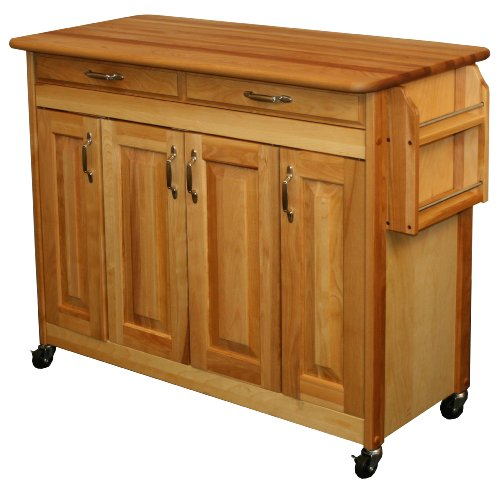 Cabinet Butcher Block - Catskill Craftsmen Butcher Block Island with Raised Panel Doors