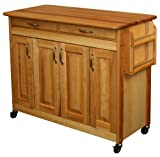 Butcher Block Kitchen Island Catskill Craftsmen Butcher Block Island with Raised Panel Doors
