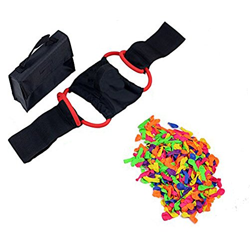 Geelife 100 Yard Water Balloon Launcher Catapult Slingshot for Kids Adult 1 or 3 Person with 3 Bunch and Extra 500 Balloon by Geelife