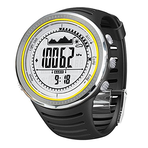 Sunroad FR802B 5 ATM wasserdicht Höhenmesser Kompass Stoppuhr Angeln Barometer Schrittzähler Outdoor Sports Uhr Multifunktions