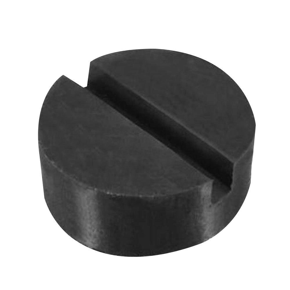 Sedeta® Black Jack Pad Slotted Frame Rubber Disc Pads Universal Car Vehicle Frame Rail Floor Jack Guard Adapter