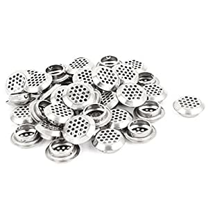 uxcell Round Panel Shoes Cabinet Air Vent Louver Cover 25mm Bottom Dia 40pcs