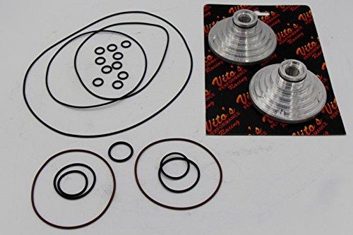2 X Cool Head Domes Yamaha Banshee Pro Design Vito's/O-Ring Kit Combo (Banshee Pro Design)