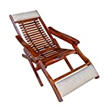 Mamta Decoration Wooden Folding Relaxing Beach Chair For Garden and Outdoor/Indoor Swimming Pool Furniture
