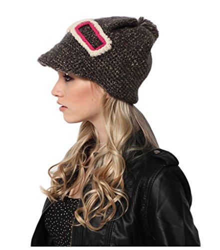 Upspirit Fashion Women Knit Snow Hat Winter Snowboarding Beanie Crochet Cap Hats