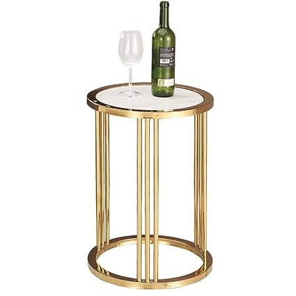 Gold Metal Round Coffee Table.Amazon Com Ju Fu Metal Round Table Stainless Steel Marble Round