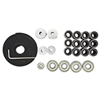 TriGorilla 3D Printer Prusa I3 Movement Kit GT2 Belt 20T Timing Pulley 608zz and 624zz Bearing LM8uu Linear Bearing Motor Shaft Coupler for Reprap from TriGorilla