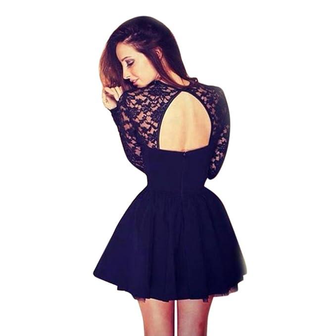 Amazon.com: dressin Mujer Sexy vestido de fiesta Casual sin ...