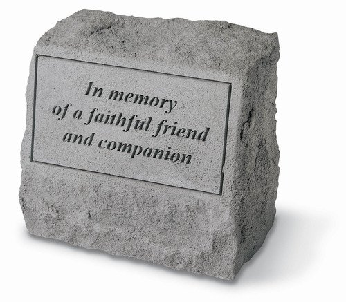 In Memory of A Faithful Friend Pet Memorial Stone with Urn ()