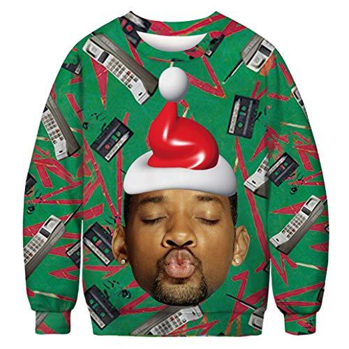 KSJK Unisex Funny Print Ugly Christmas Sweater Jumper 026 XXL