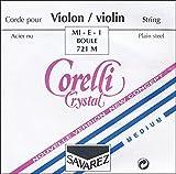 Corelli Crystal Violin Strings Set, Loop E Medium 4/4 Size