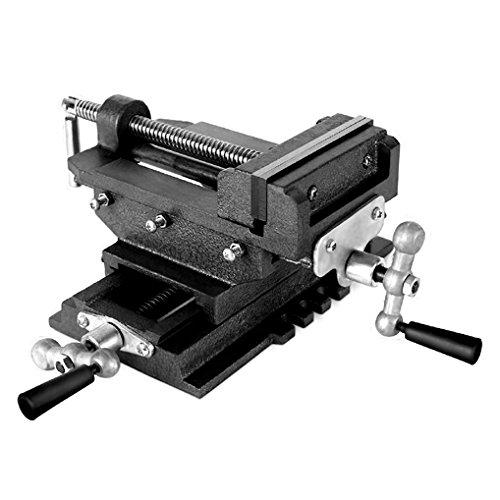 EBERTH 2 Achsen Kreuztisch (125 mm Backenbreite, Spannbreite 98 mm, Querhub 110 mm, Schwalbenschwanzfü hrung, massive Bauweise)