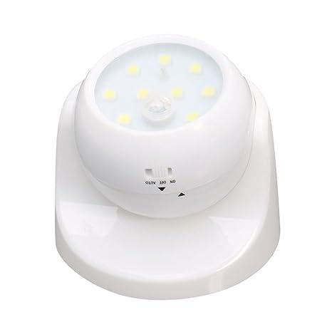 Aquiver - Lámpara de noche con sensor de movimiento de 360°, 9 LED,