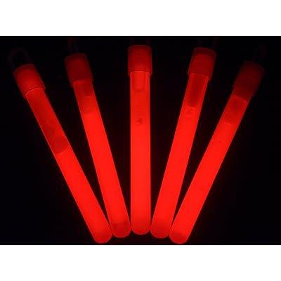 "Glow With Us Glow Sticks Bulk Wholesale, 50 4"" Red Glow Stick Light Sticks. Bright Color, Kids love them! Glow 8-12 Hrs, 2-year Shelf Life, Sturdy Packaging, Brand"
