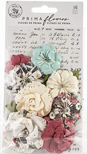(Prima Marketing 637941 Midnight Mulberry Paper Flowers 14/Pk-Garden Blooms)