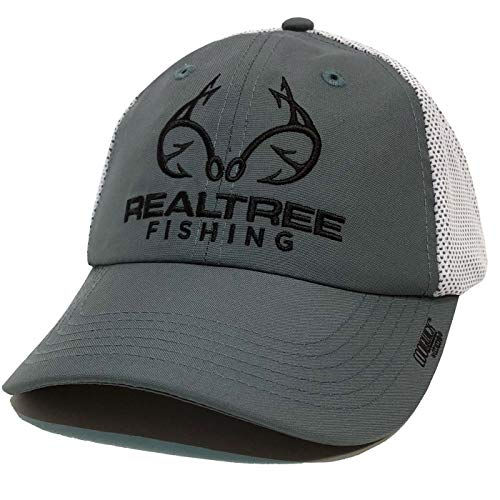 (Realtree Fishing CoolQwick Mesh Back Hat (Gray))