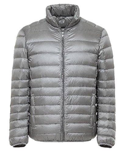 Fashion Coats Gocgt Lightweight Down Warm Jacket Concise Gery Men's qr50q