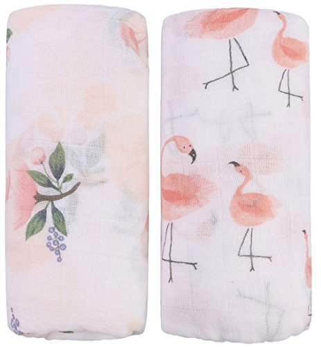 Bamboo Muslin Swaddle Blankets - 2 Pack
