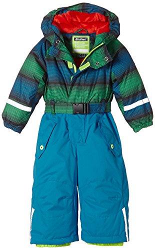 Killtec Kinder Ski Overall mit Kapuze Sarly Mini, Royal/Grün/Schwarz/Royal Hose, 92, 25184-000