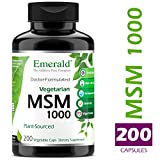 Cheap MSM 1,000 mg – Joint Support for Aches & Pains, Anti-Inflammatory, Stress Relief, Supports Digestive System, Allergy Relief – Vegetarian – Emerald Laboratories (Ultra Botanicals) – 200 Capsules