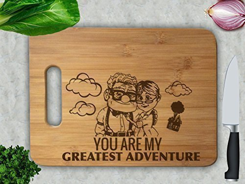 Carl and Ellie You are My Greatest Adventure Cutting Board
