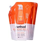 Method Gel Dish Soap Pump Refill Clementine, 36 Fluid Ounce (Pack of 2)