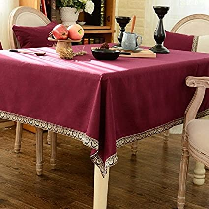 La tela de algodón fino estilo folk de verano elegante textura Medidor de color Rectángulo Mantel