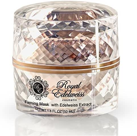 ROYAL EDELWEISS SKINCARE ROSE GOLD FIRMING MASK W/EDELWEISS FLOWER EXTRACT (1.8OZ)