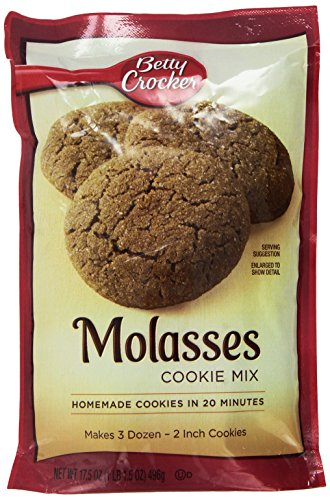 Betty Crocker Molasses Cookie Mix, 17.5-ounce (Pack of 3)