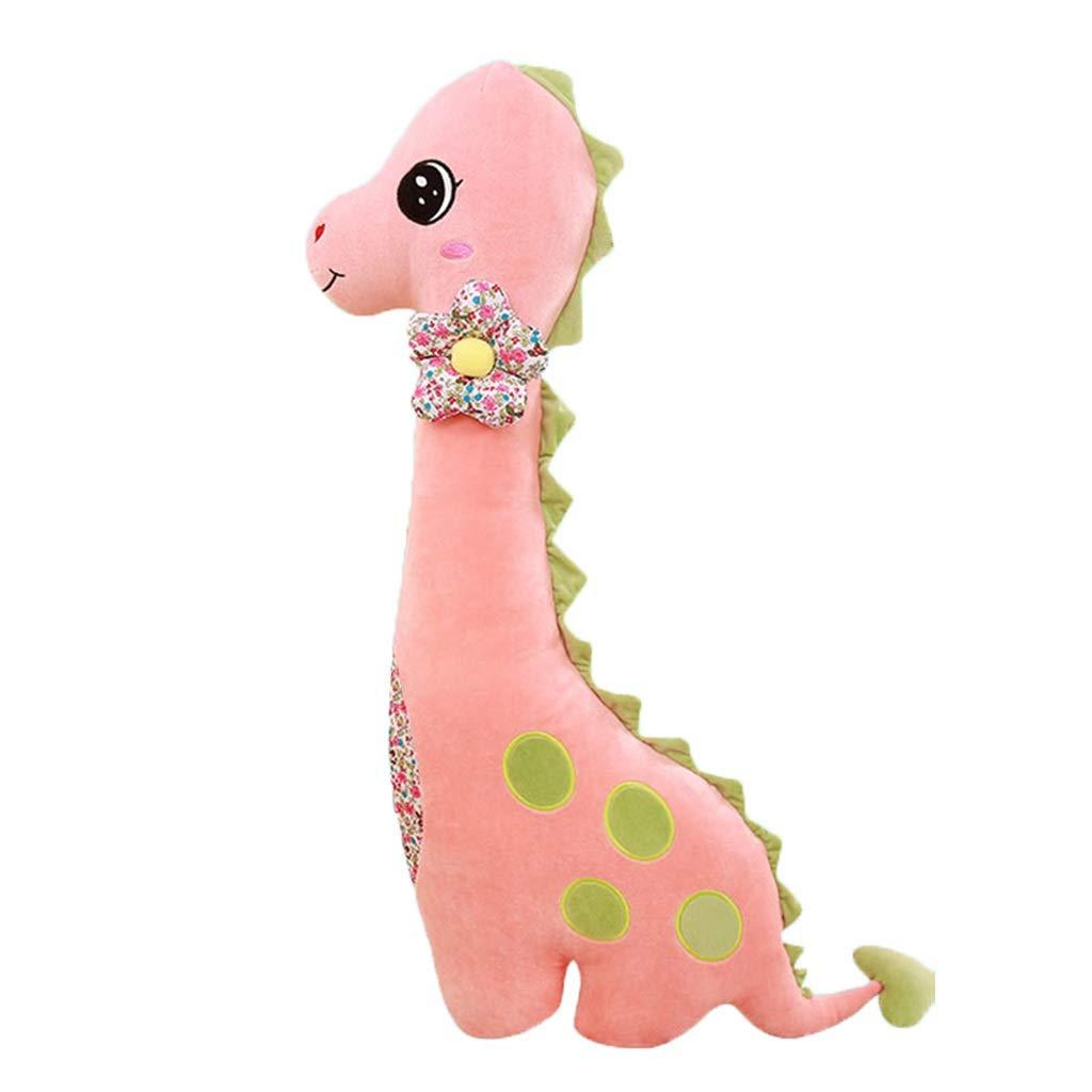 Cuscini per divanetti Ragdoll Peluche Dinosauro da Letto Cuscino per Bambola Cuscino per Bambola Bambina Forma A Doppia Faccia Materiale Sano E Sicuro Cuscino (Colore   rosa, Dimensione   90cm)