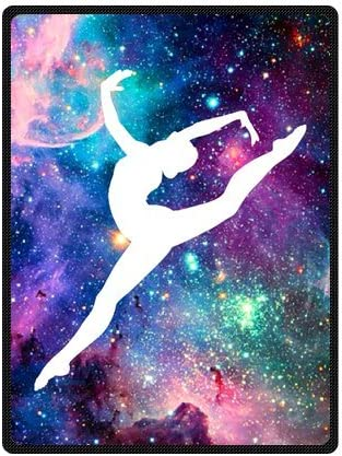 Medium Christmas gift Bright Gymnastic Dancing Star Super Soft Fleece Blanket 50 inches x 60 inches