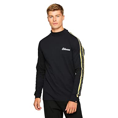 b4d3953d18 ellesse Adovardo High Neck Black Cotton Long Sleeve T-Shirt XXL ...