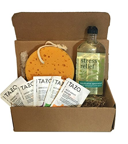 Bath & Body Works Spa Gift Baskets - Aromatherapy Gift Set - Because You Deserve It -Stress Relief OR Energizing OR Sleep OR Happiness Options Available (Stress Relief - Eucalyptus Spearmint)