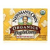 Newman's Own Organics Organic Popcorn - Unsalted - Case of 12 - 2.8 oz.