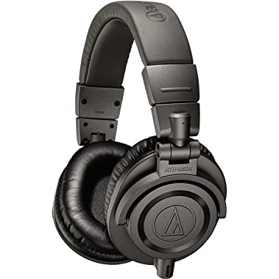 Audio-Technica Matte Grey Professional Headphones Ultimate A1 Bundle ATH-M50XMG